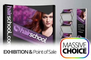 Exhibition and Point of Sale graphics and displays